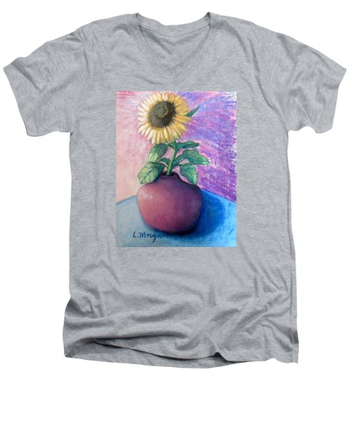 Shine On Me Men's V-Neck T-Shirt by Laurie Morgan