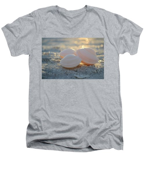 Men's V-Neck T-Shirt featuring the photograph Shine On... by Melanie Moraga