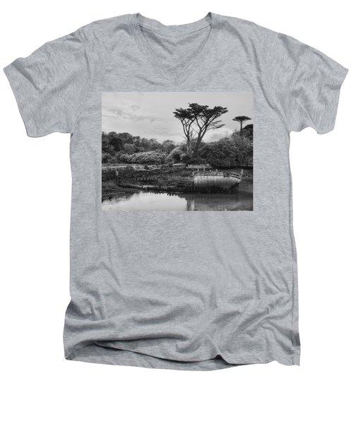 Shipwreck Men's V-Neck T-Shirt by Hugh Smith