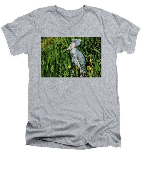 Shoebill Stork Men's V-Neck T-Shirt