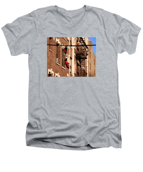 Shoes Hanging Men's V-Neck T-Shirt by RicardMN Photography