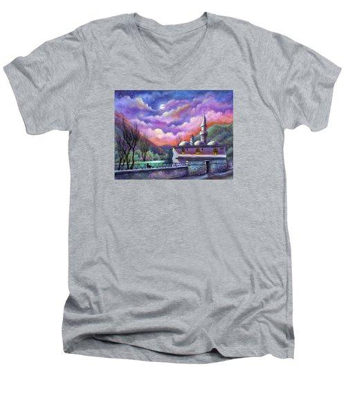 Shoot For The Moon Men's V-Neck T-Shirt