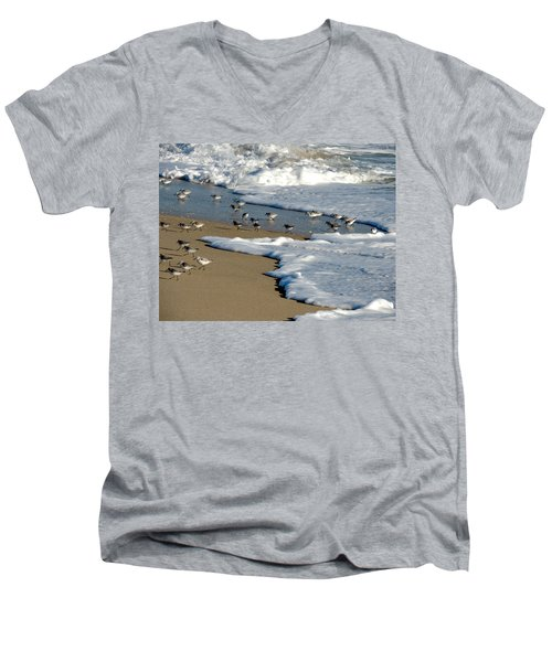 Shore Birds South Florida Men's V-Neck T-Shirt