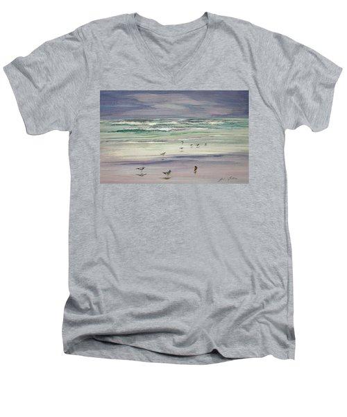 Shoreline Birds IIi Men's V-Neck T-Shirt