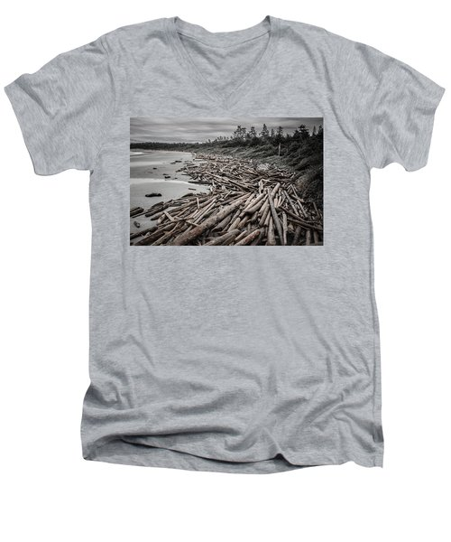 Shoved Ashore Driftwood  Men's V-Neck T-Shirt