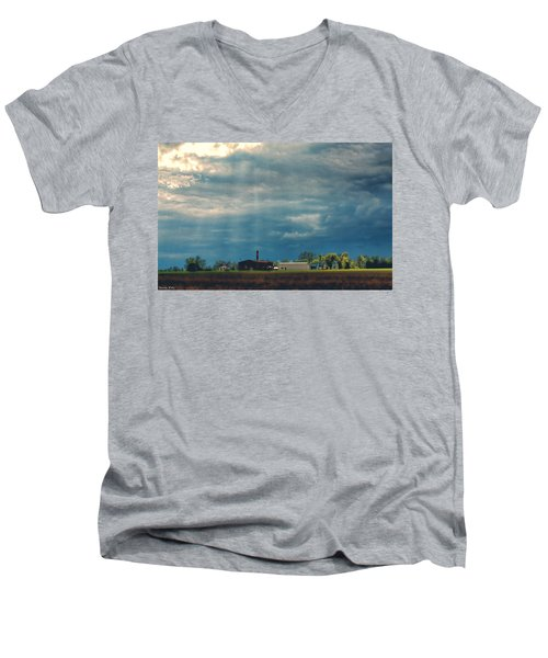 Showers Of Blessings Men's V-Neck T-Shirt by Bonnie Willis