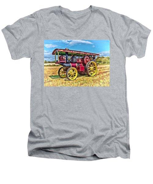 Showmans Engine Men's V-Neck T-Shirt