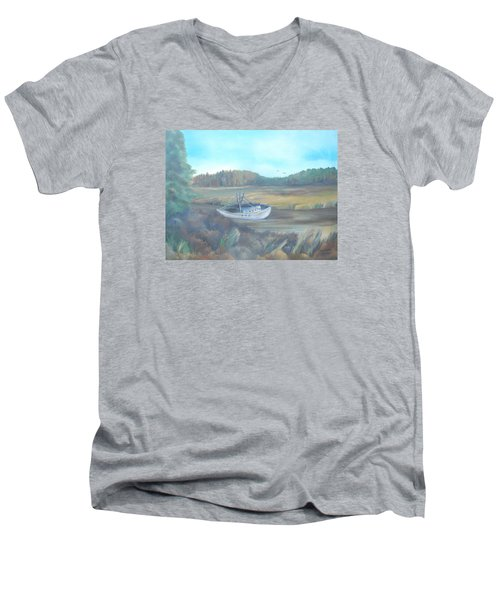 Shrimp Boat Men's V-Neck T-Shirt