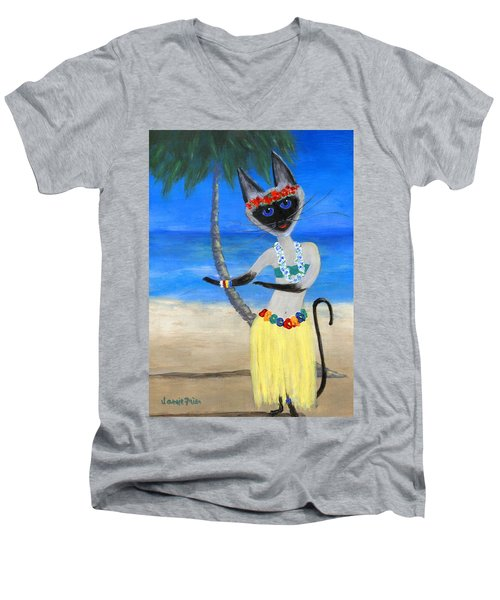 Siamese Queen Of Hawaii Men's V-Neck T-Shirt