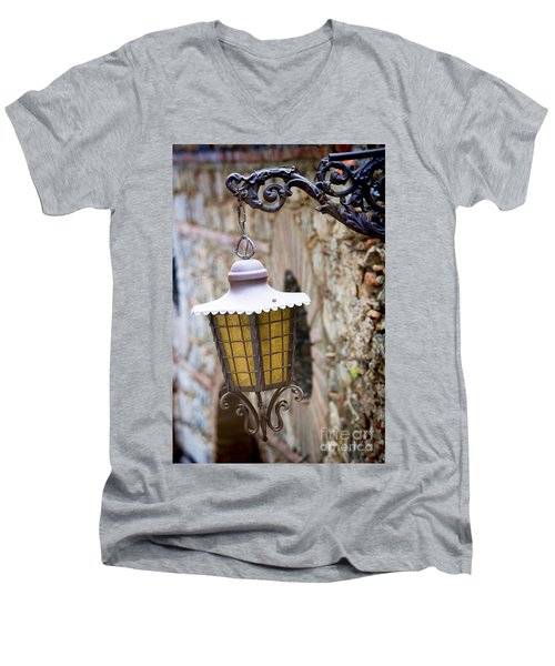Sicilian Village Lamp Men's V-Neck T-Shirt