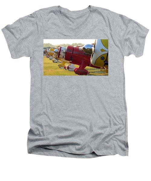 Side By Side. Oshkosh 2012 Men's V-Neck T-Shirt by Ausra Huntington nee Paulauskaite