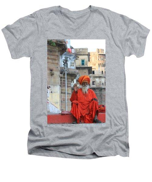 Indian Man Men's V-Neck T-Shirt
