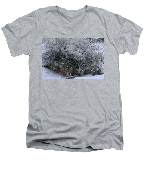Silent Accord Men's V-Neck T-Shirt by Ed Hall