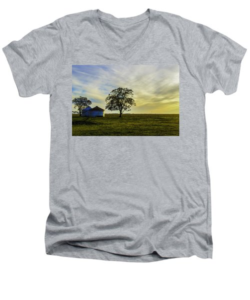 Silos At Sunset Men's V-Neck T-Shirt
