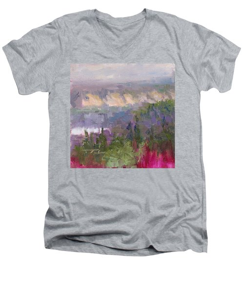Silver And Gold - Matanuska Canyon Cliffs River Fireweed Men's V-Neck T-Shirt