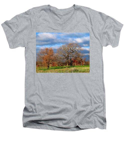 Simple Hideaway  Men's V-Neck T-Shirt