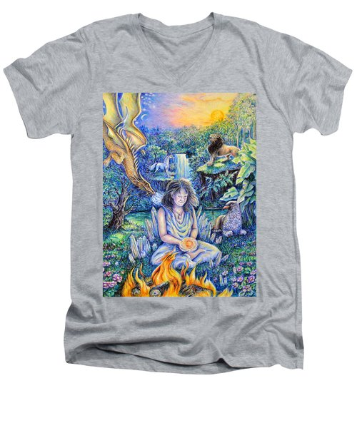 Simply Elemental Men's V-Neck T-Shirt