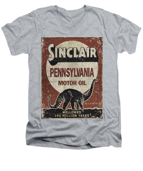 Sinclair Motor Oil Can Men's V-Neck T-Shirt