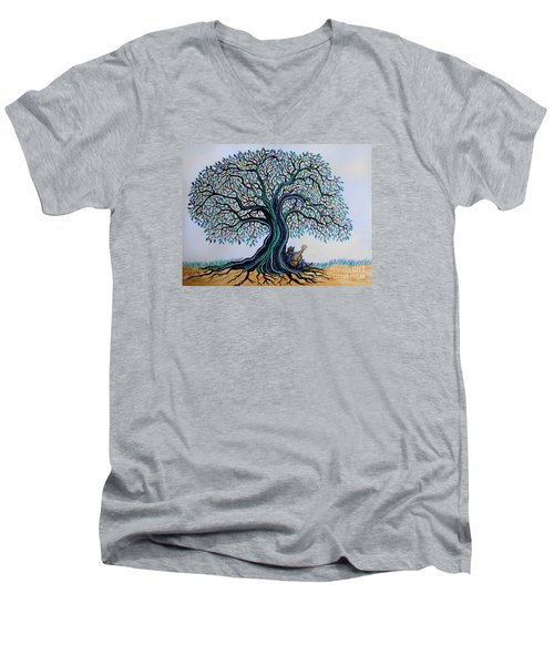 Singing Under The Blues Tree Men's V-Neck T-Shirt by Nick Gustafson