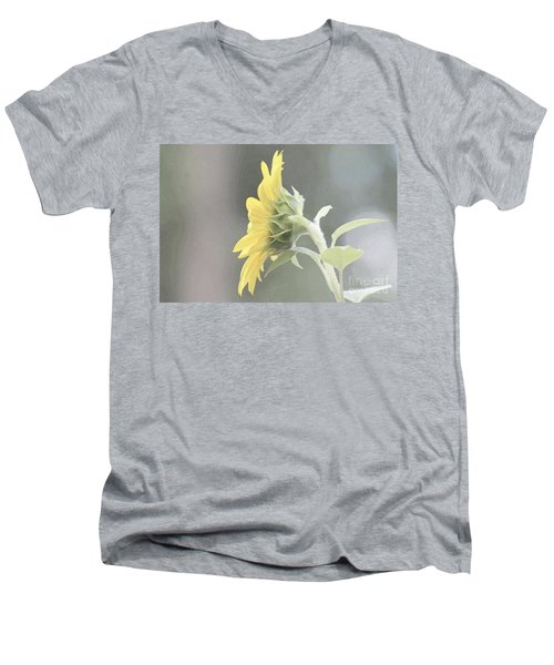 Single Sunflower Men's V-Neck T-Shirt