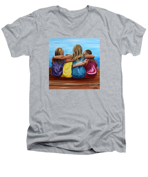 Sisters Men's V-Neck T-Shirt by Debbie Hart