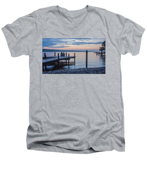 Sisters - Lakeside Living At Sunset Men's V-Neck T-Shirt