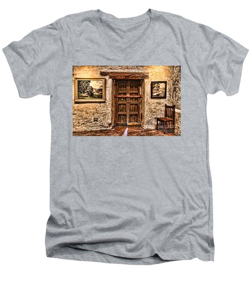 Sitting By The Door By Diana Sainz Men's V-Neck T-Shirt