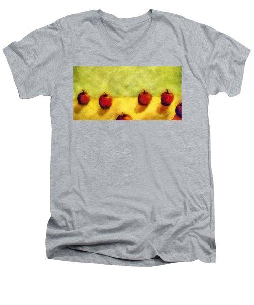 Six Apples Men's V-Neck T-Shirt