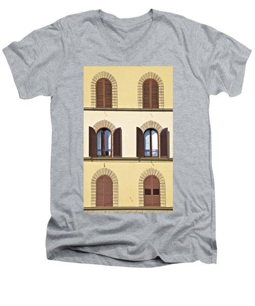 Six Windows Of Florence Men's V-Neck T-Shirt