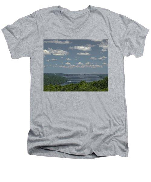 Skaneateles Lake Men's V-Neck T-Shirt