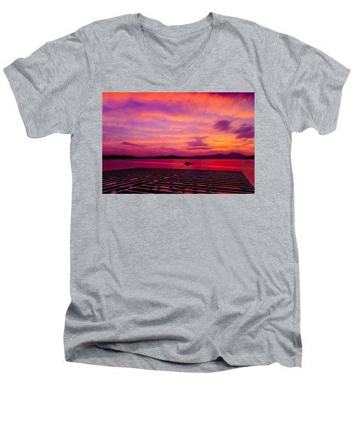 Skies Ablaze - Two Men's V-Neck T-Shirt