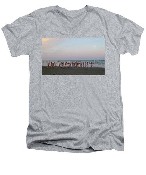 Skinny Dipping Down A Moon Beam Men's V-Neck T-Shirt by Steve Taylor