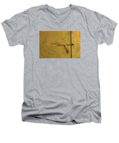 Skc 0047 The Door Latch Men's V-Neck T-Shirt by Sunil Kapadia