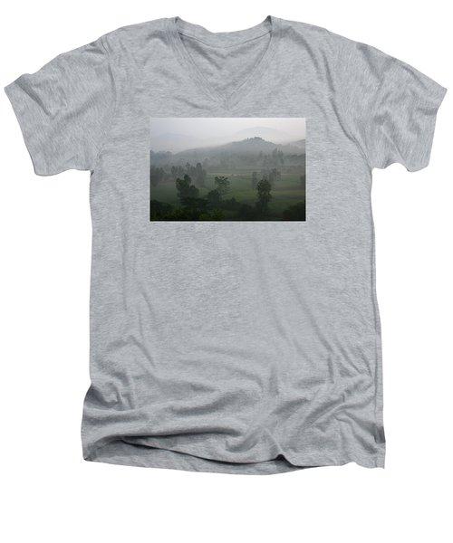 Skc 0079 A Winter Morning Men's V-Neck T-Shirt by Sunil Kapadia