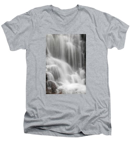 Men's V-Neck T-Shirt featuring the photograph Skc 1419 A Smooth Pattern by Sunil Kapadia