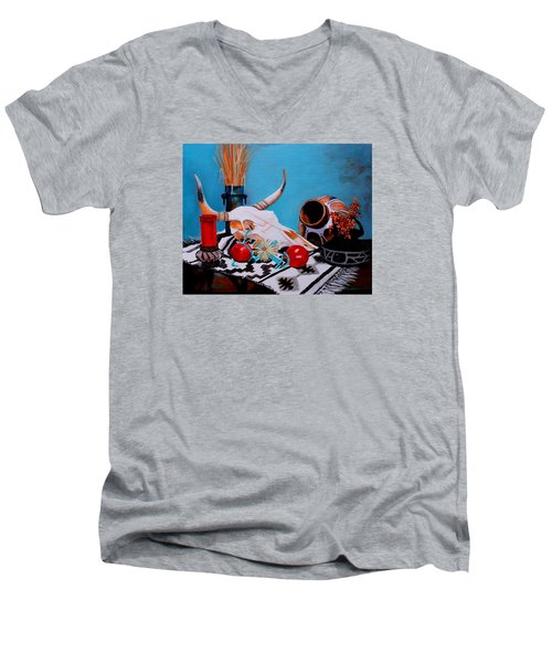 Skull Still Life Men's V-Neck T-Shirt