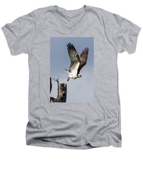 Sky Hunter Men's V-Neck T-Shirt by David Lester