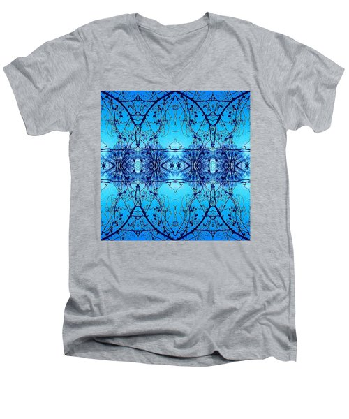 Sky Lace Abstract Photo Men's V-Neck T-Shirt by Marianne Dow