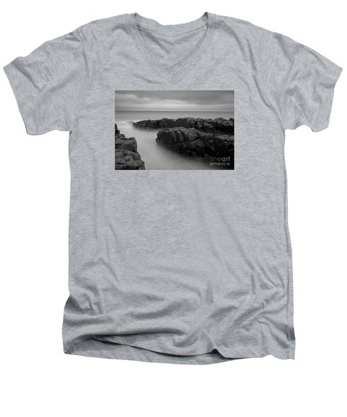 Men's V-Neck T-Shirt featuring the photograph Sky Line by Gunnar Orn Arnason