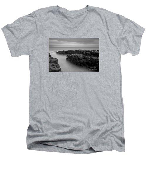 Sky Line Men's V-Neck T-Shirt by Gunnar Orn Arnason
