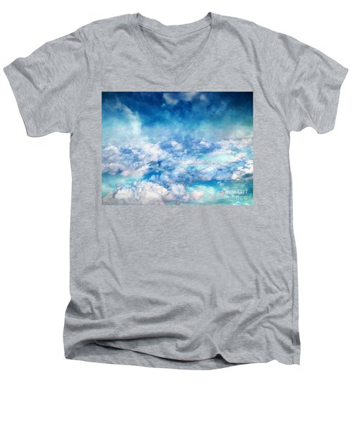 Sky Moods - A View From Above Men's V-Neck T-Shirt