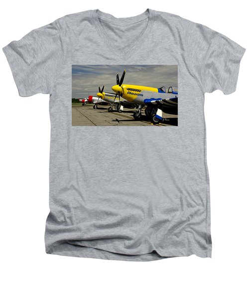 Men's V-Neck T-Shirt featuring the photograph Sky The Limit  by James C Thomas