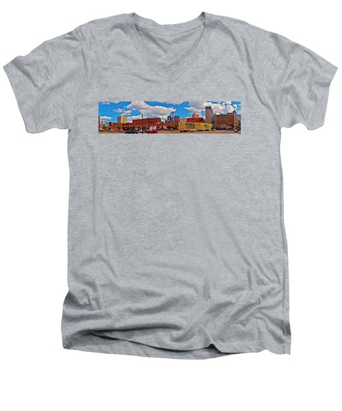 Skyline From The Inside... Detroit Men's V-Neck T-Shirt