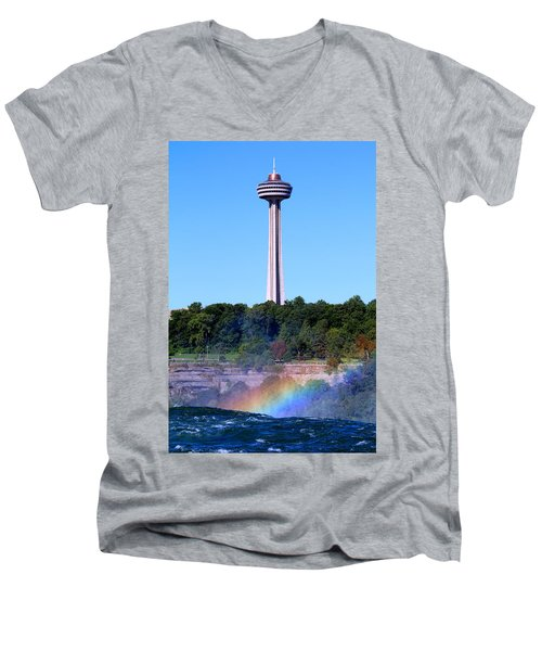 Skylon Tower Niagara Falls Men's V-Neck T-Shirt