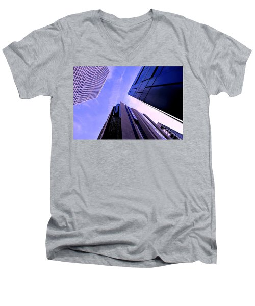 Skyscraper Angles Men's V-Neck T-Shirt by Matt Harang