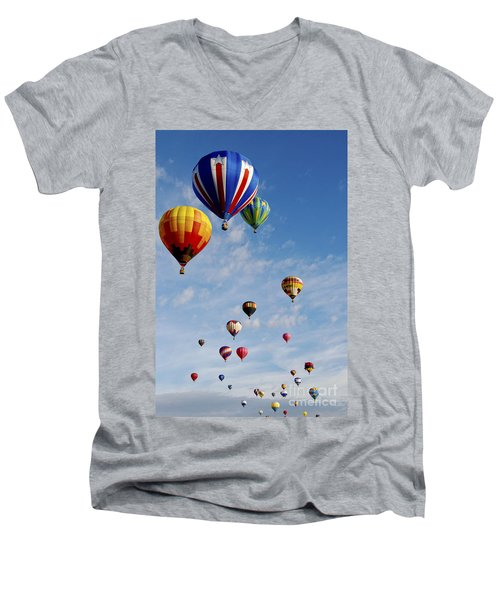 Men's V-Neck T-Shirt featuring the photograph Skyward Bound by Gina Savage
