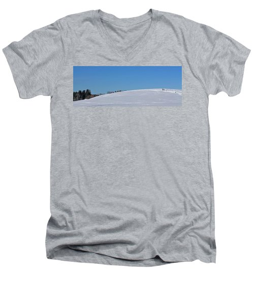 Dexter Drumlin Hill Sledding Men's V-Neck T-Shirt