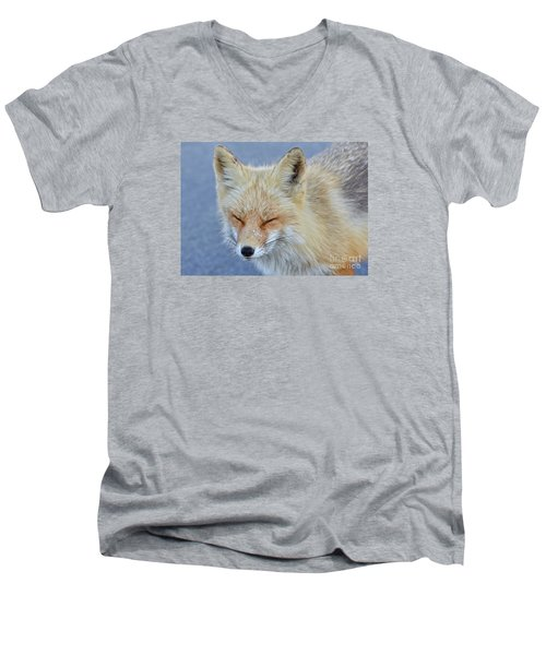 Men's V-Neck T-Shirt featuring the photograph Sleep Walking by Sami Martin