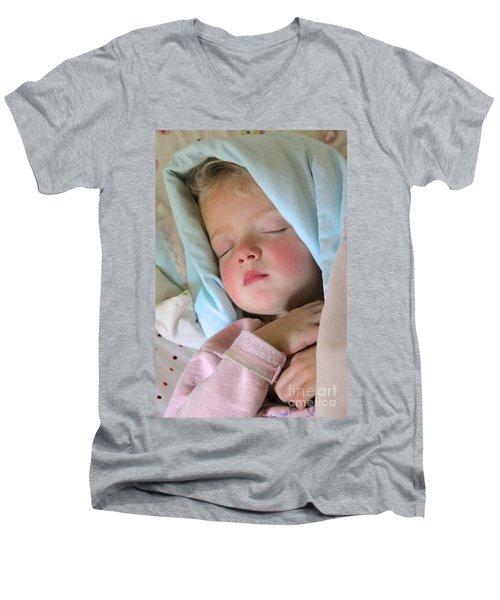Sleeping Angel Men's V-Neck T-Shirt