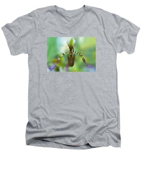 Slipper Orchid Of Selby Gardens Men's V-Neck T-Shirt